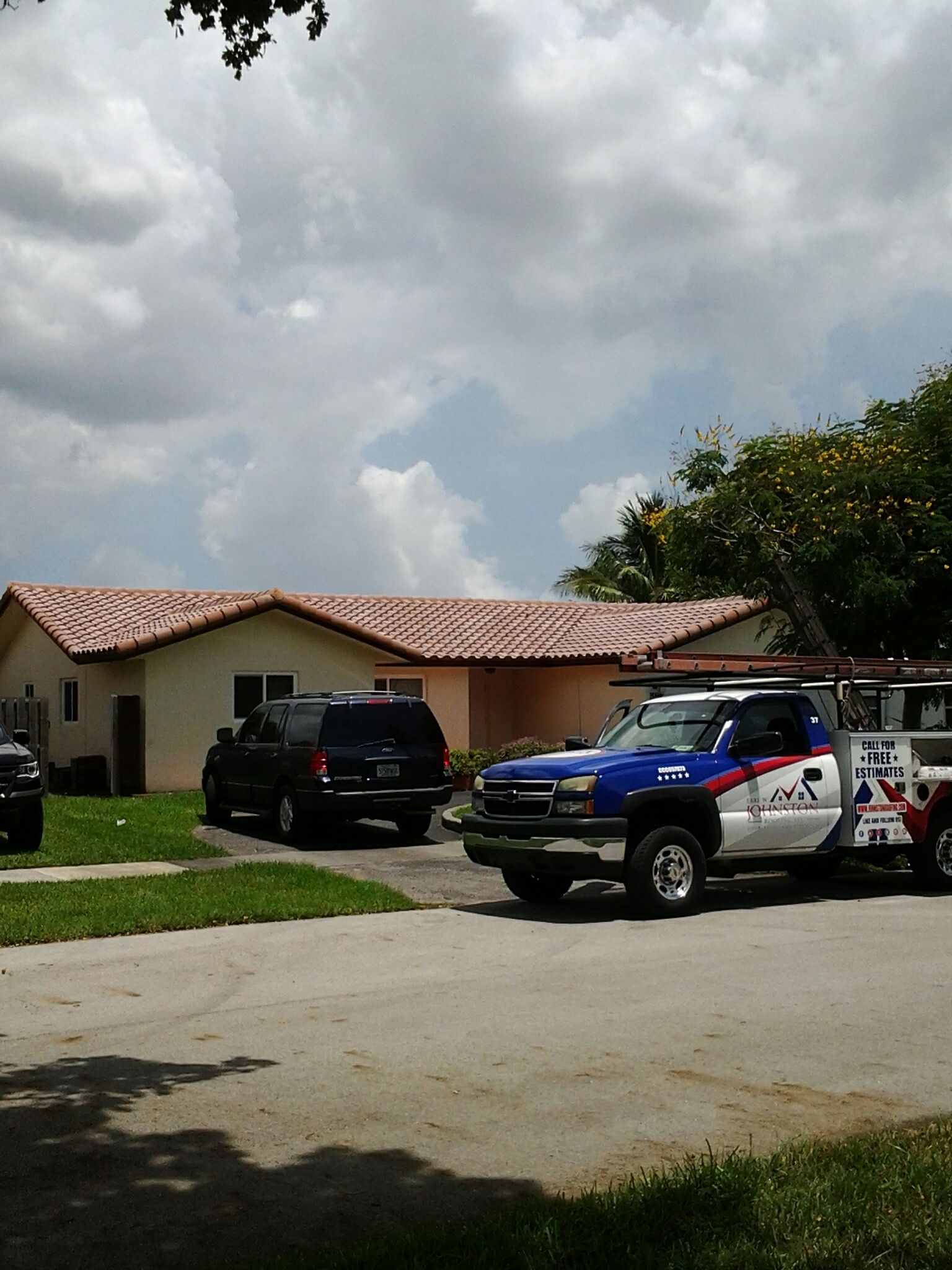 Pressure cleaning and roof a cide by Earl W.Johnston Roofing rick n gary