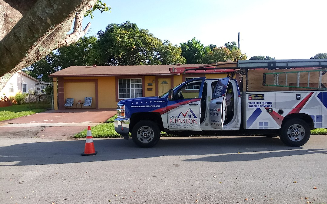 Lauderhill, FL - Shingles roof repair in the city of lauderhill fl this repair is being done by earl w johnston roofing company jose end duane are your repair technician