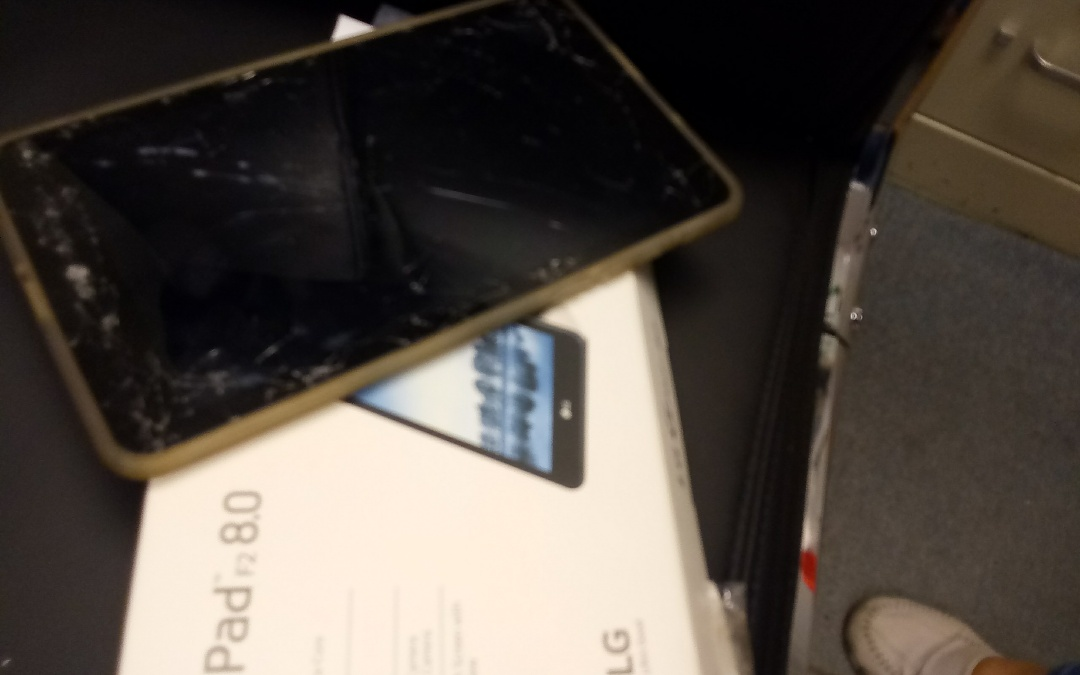Hollywood, FL - Replacing the smashed tablet