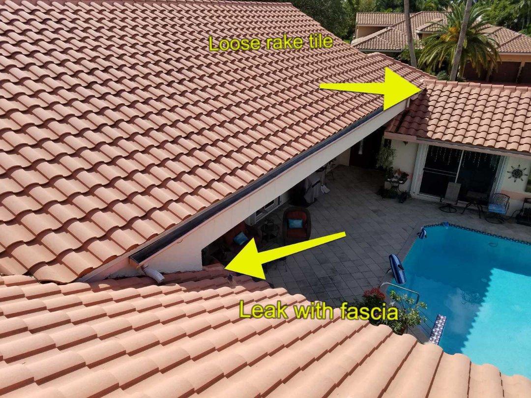 Tile roof leak repair estimate in Pembroke Pines, FL