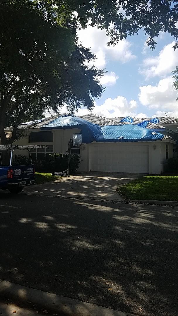Coral Springs, FL - Eagle Malibu tile reroof estimate by Earl Johnston Roofing Company