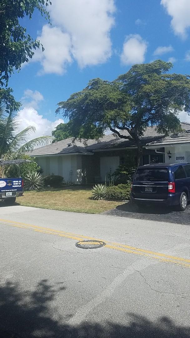 Tamarac, FL - Tile roof repair estimate by Earl Johnston Roofing Company
