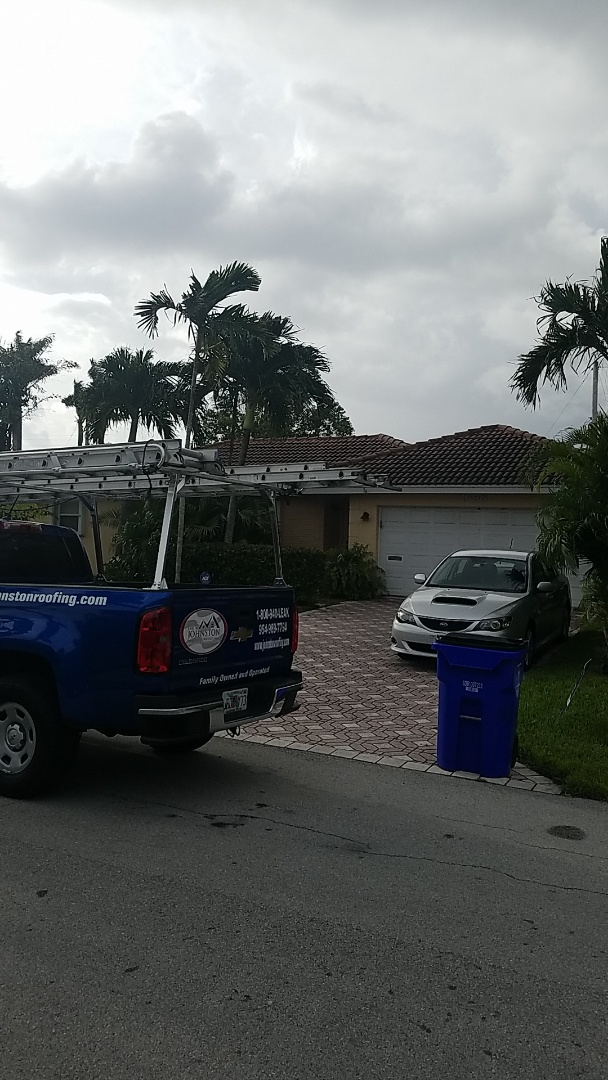 Deerfield Beach, FL - Tile roof leak repair estimate by Earl Johnston Roofing Company