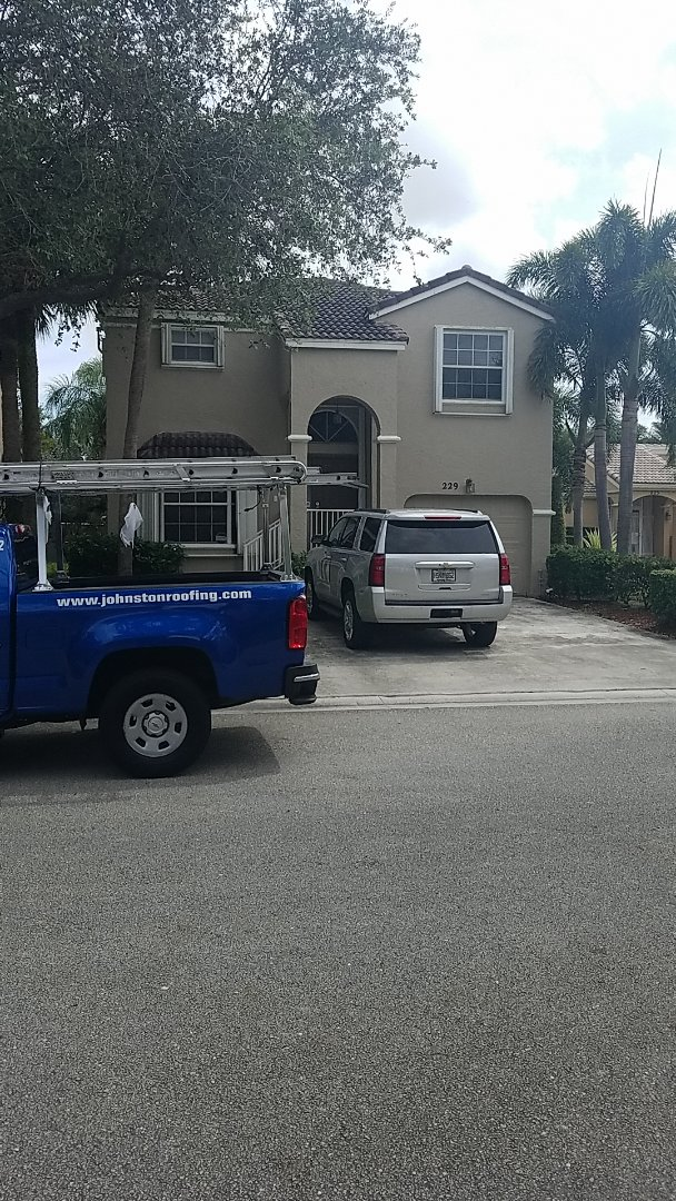 Coral Springs, FL - Eagle Malibu tile reroof estimate by Aj from Earl Johnston Roofing Company