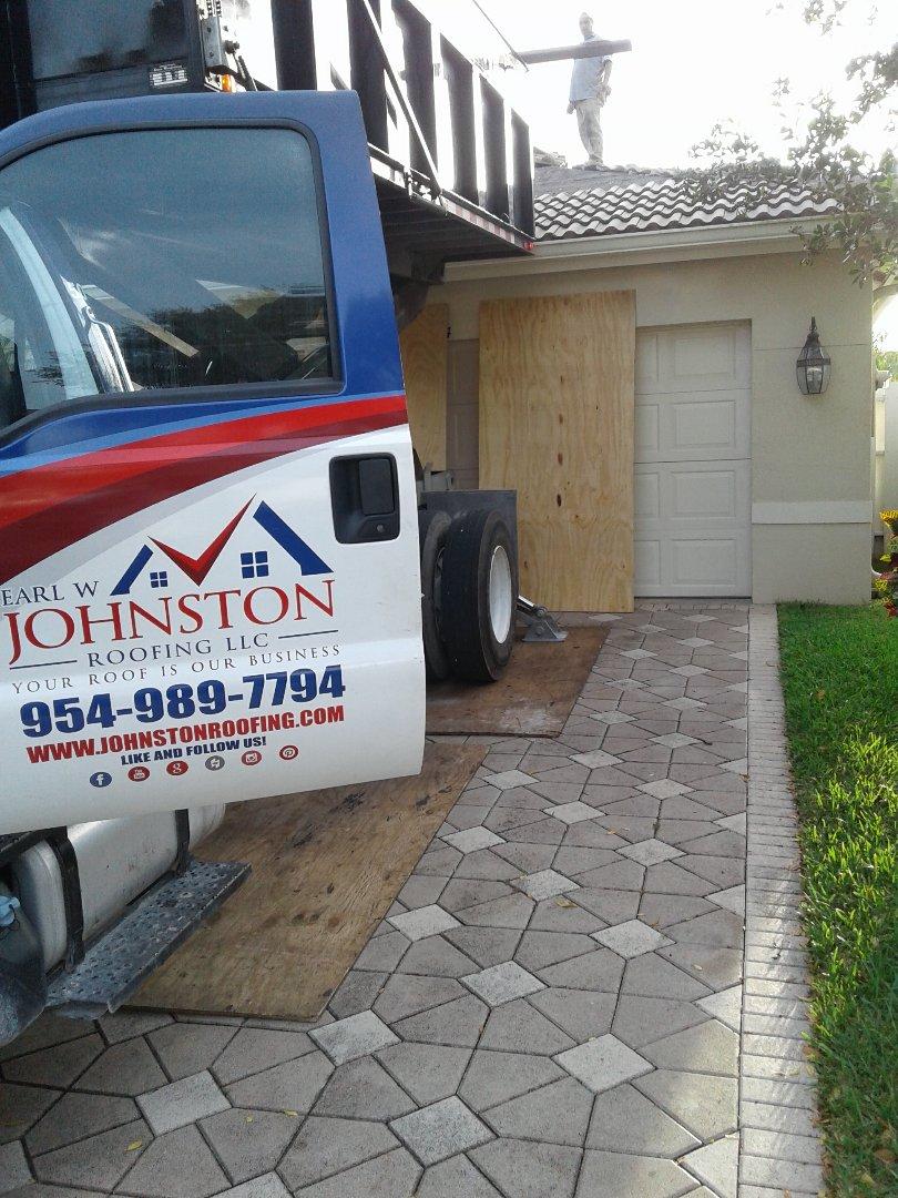 Sunrise, FL - Starting a 42sq tile reroof in sunrise, by Earl w Johnston roofing.