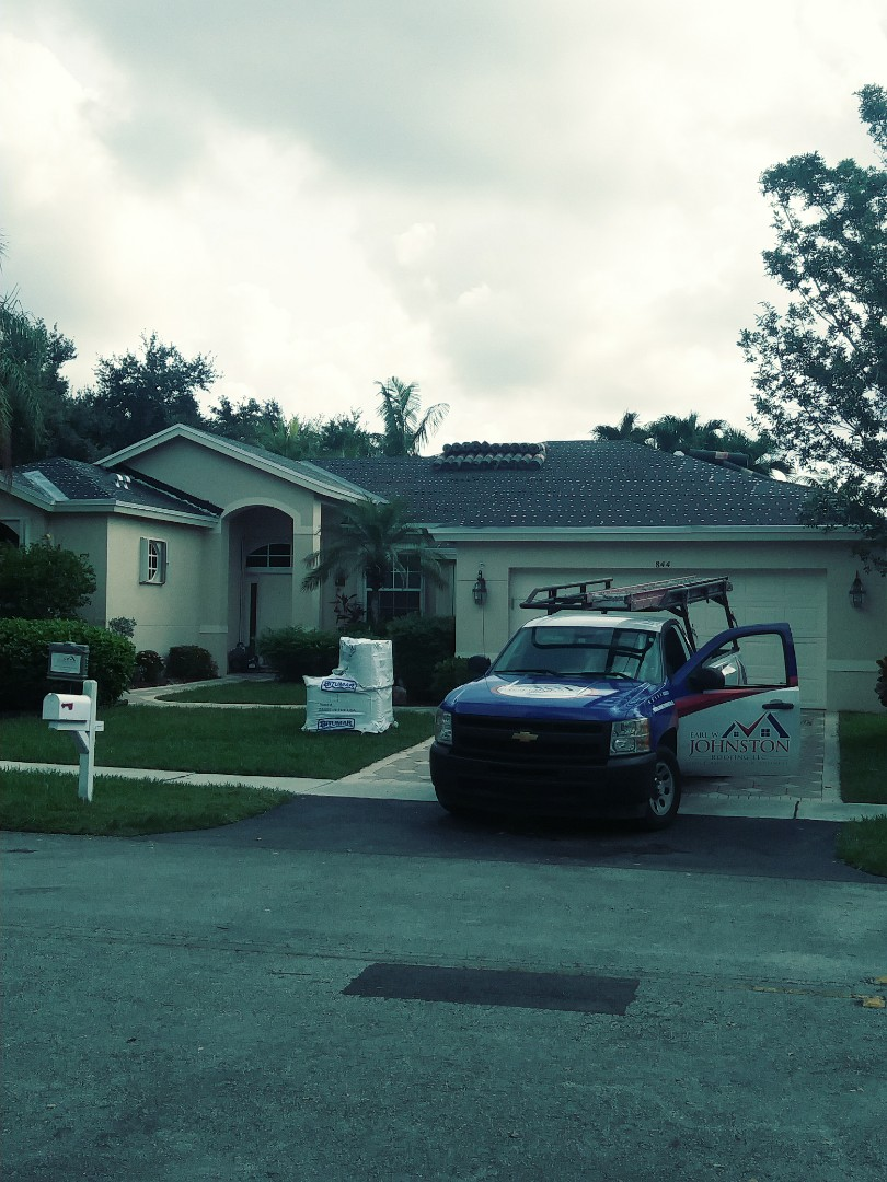 Sunrise, FL - Tin cap roof anchor sheet passed inspection ready to hot mop#90 tile underlayment