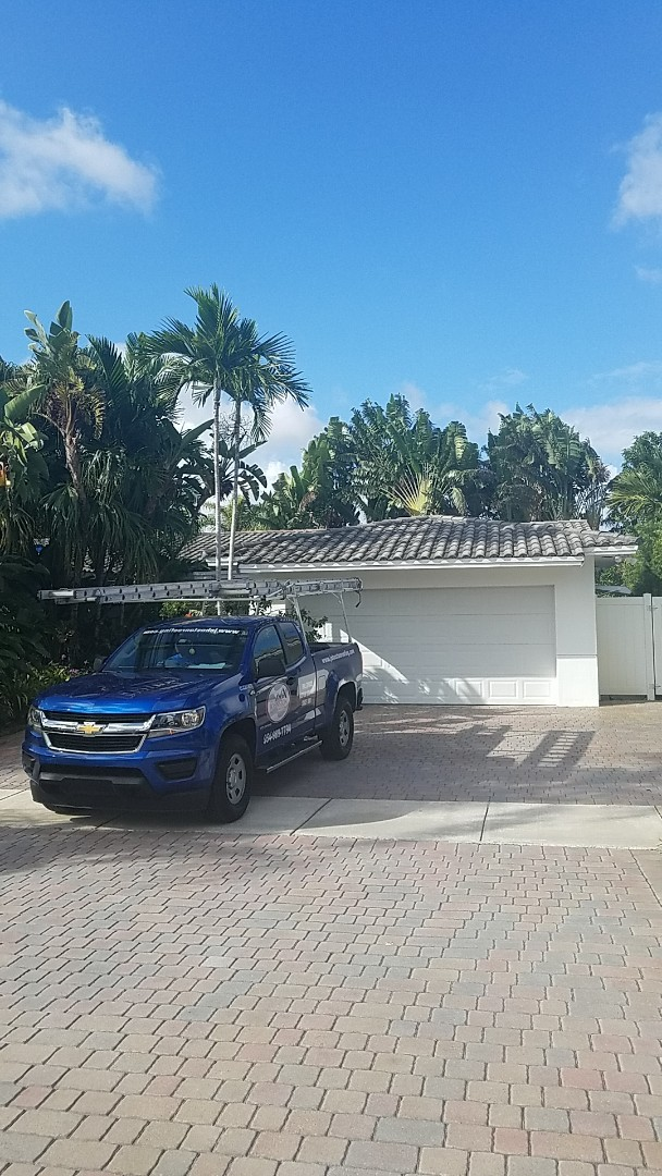 Miami Gardens, FL - Eagle Malibu tile reroof estimate by Aj and Jose from Earl Johnston Roofing Company
