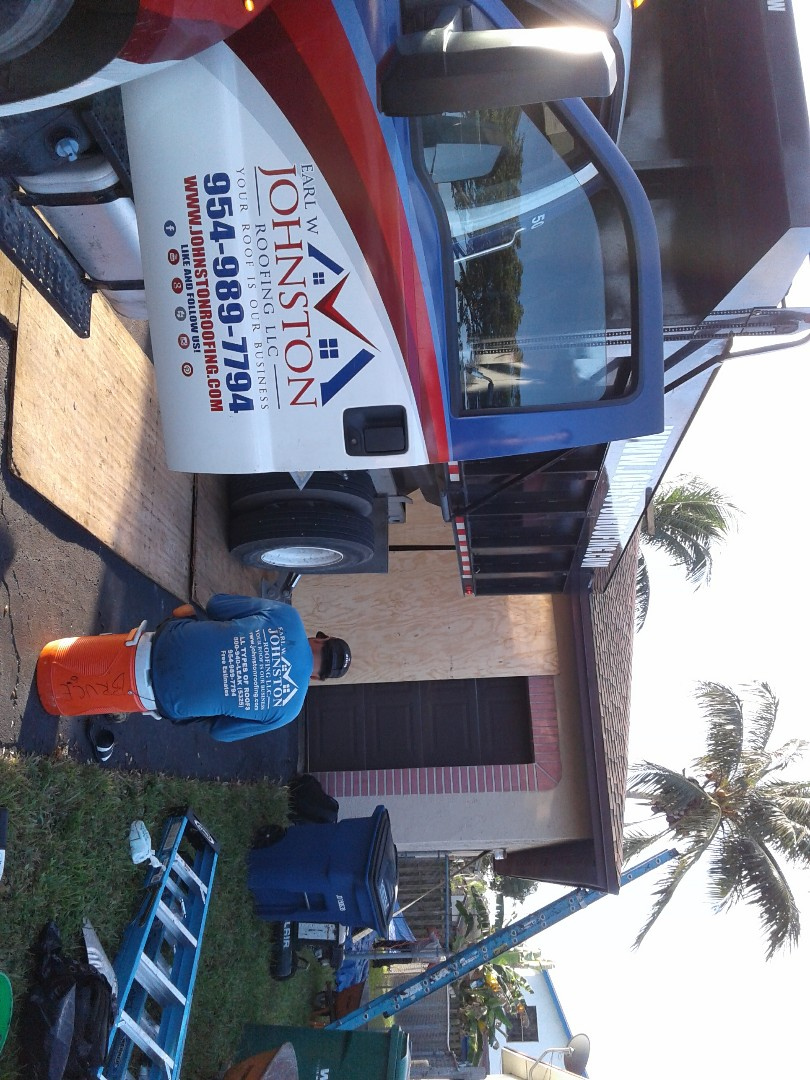 Cooper City, FL - Starting a 28sq.shingle reroof in Cooper city, by Earl w Johnston roofing