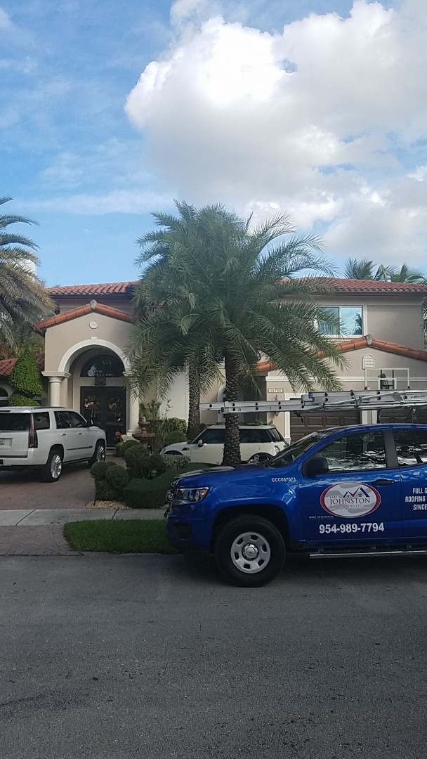 Hialeah, FL - Santafe S tiles reroof estimate by Earl Johnston Roofing Company