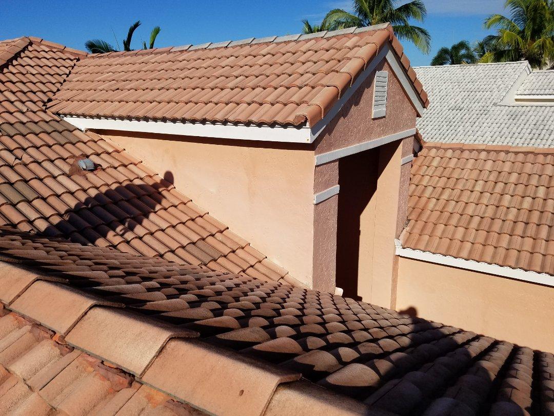 Cooper City, FL - Tile roof leak repair estimate in Weston,FL