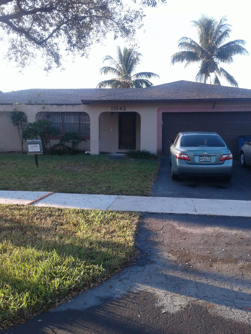 Cooper City, FL - Wood repair in the city of Cooper City Florida this repair is being done by Earl W Johnston roofing company Tony and Regis are your repair technicians