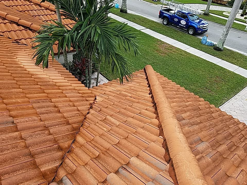 Plantation, FL - Tile roof cleaning and maintenance estimate in Plantation, FL