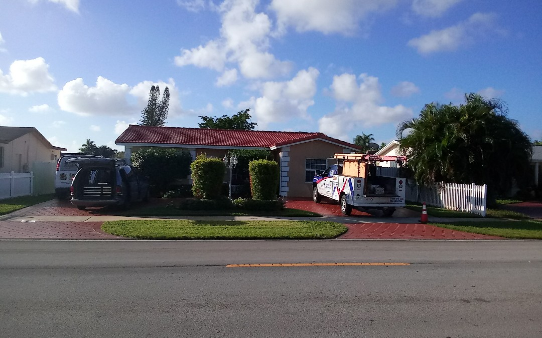 Hollywood, FL - Tile roof repair in the city of hollywood fl this repair is being done by earl w johnston roofing company jose duane end israel are you repair technician