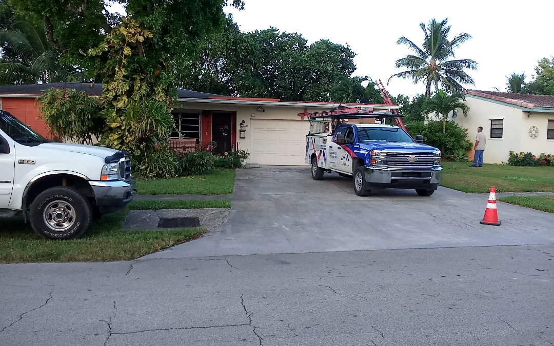 Miramar, FL - Flat roof repair in the city of Miramar fl this repair is being done by earl w johnston roofing company jose duane end israel are you repair technician