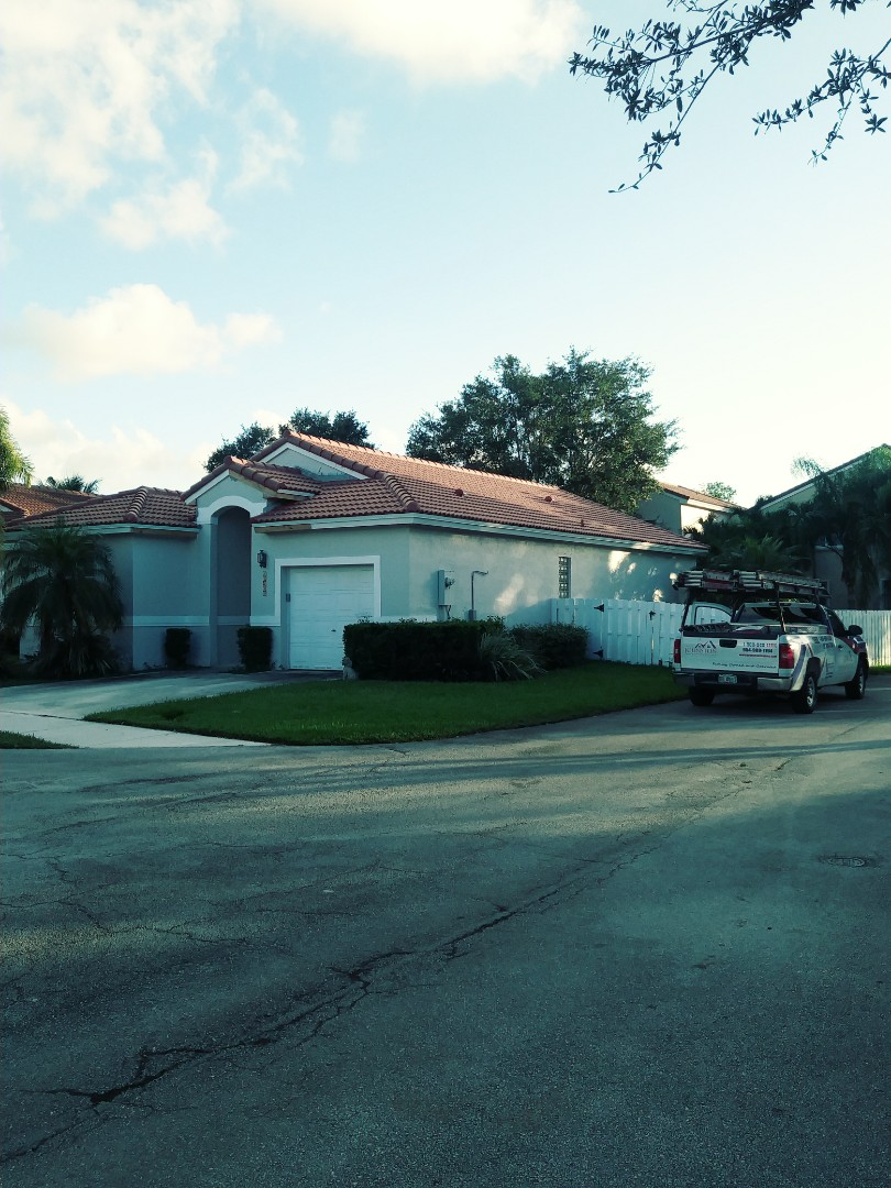 Finished eagle concrete roof tile medium profile by earl w Johnston roofing llc