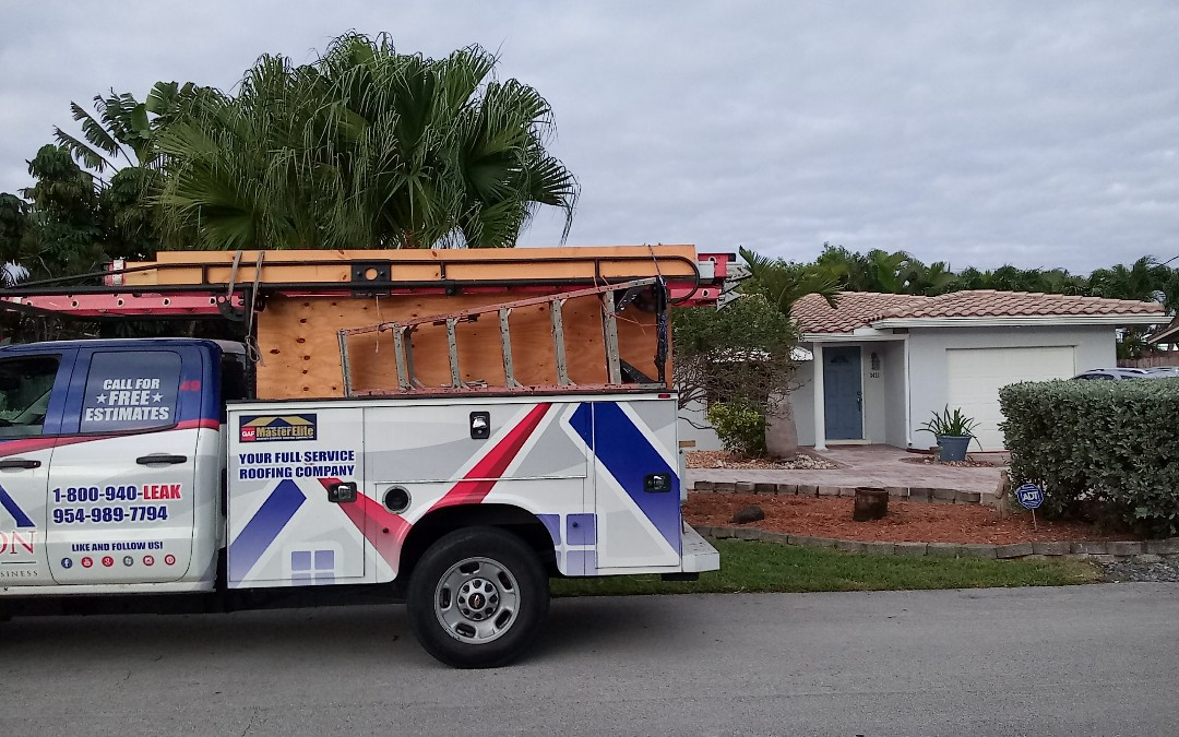 Tile roof repair in the city of Oakland park fl this repair is being done by earl w johnston roofing company jose duane end israel are you repair technician