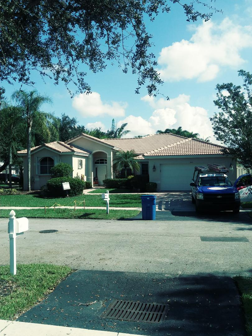 Sunrise, FL - Finished eagle medium profile concrete roof tile by earl w Johnston roofing llc