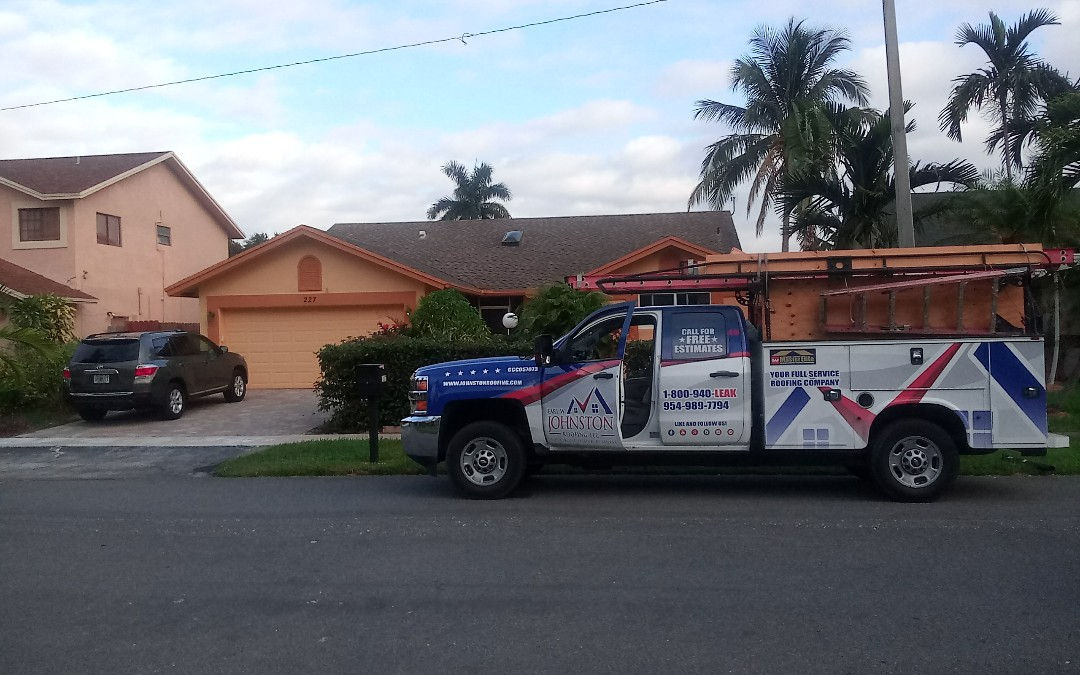 Dania Beach, FL - Shingles roof repair in the city of Dania beach fl this repair is being done by earl w johnston roofing company jose is your repair technician