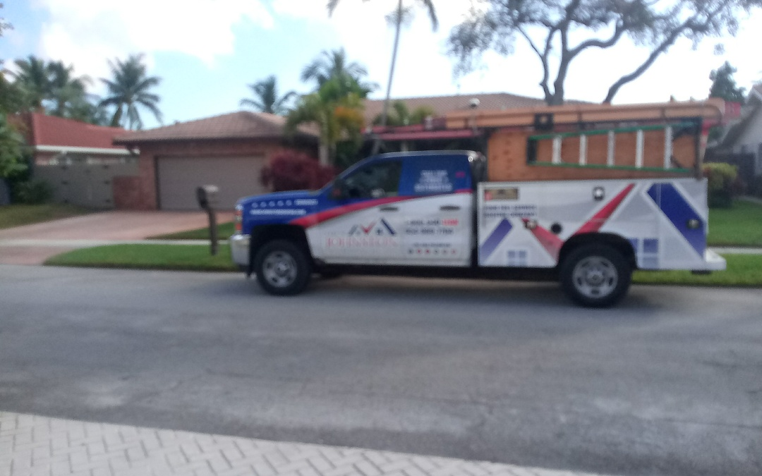 North Miami Beach, FL - Tile roof repair in the city of Miami fl this repair is being done by earl w johnston roofing company jose end duane are you repair technician