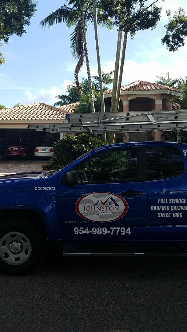 Parkland, FL - Tile roof cleaning and  repair estimate by Earl Johnston Roofing Company