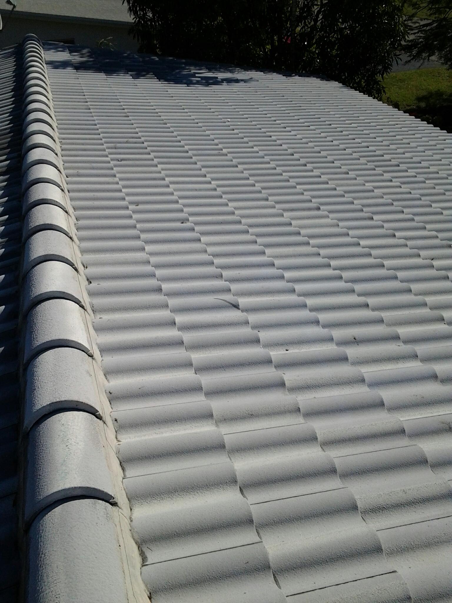 Weston, FL - Pressure clean roof