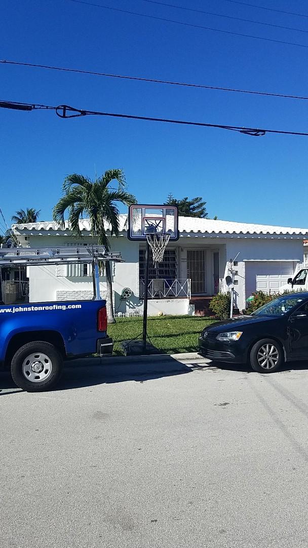 Surfside, FL - Eagle Bel Air tiles reroof estimate by Earl Johnston Roofing Company