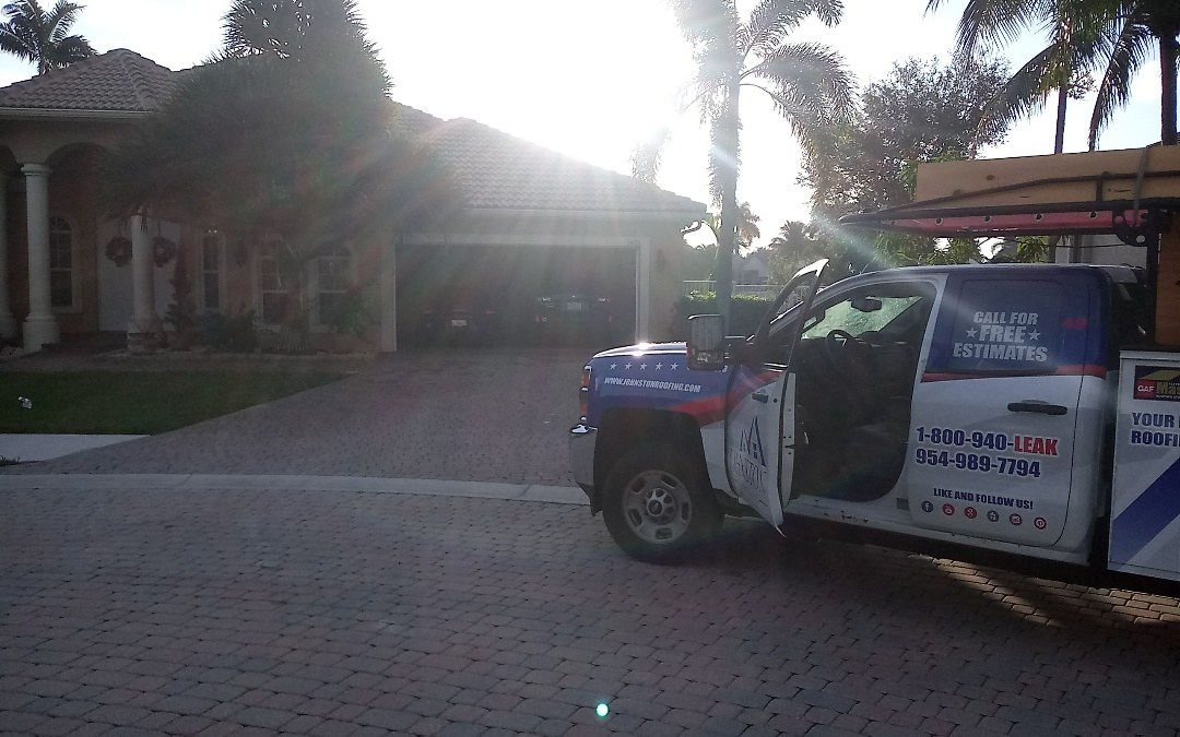 Davie, FL - Tile roof repair in the city of Davie fl this repair is being done by earl w johnston roofing company jose duane end Marino are you repair technician