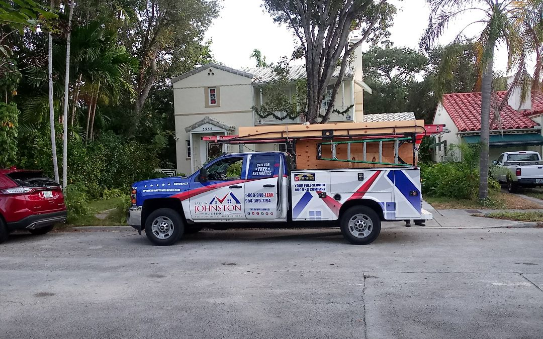 Davie, FL - Tile roof repair in the city of Miami fl this repair is being done by earl w johnston roofing company jose duane end Alexis are you repair technician
