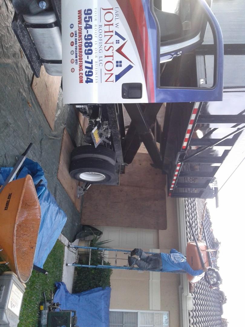 Miramar, FL - Starting a 24sq tile reroof in Miramar, by Earl w Johnston roofing.