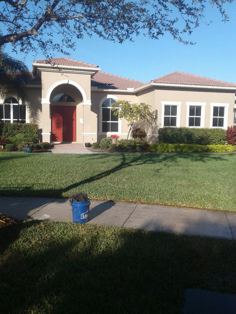 Davie, FL - Tile roof repair in the city of Davie Florida this repaired and done by Earl W. Johnston roofing company Tony Israel Regis Mariner and Alex are you repair technicians