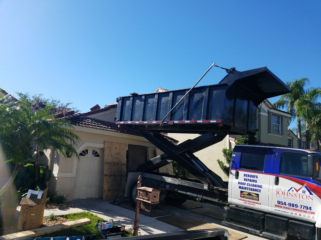 Weston, FL - Tile roof replacement is under way in Weston Florida