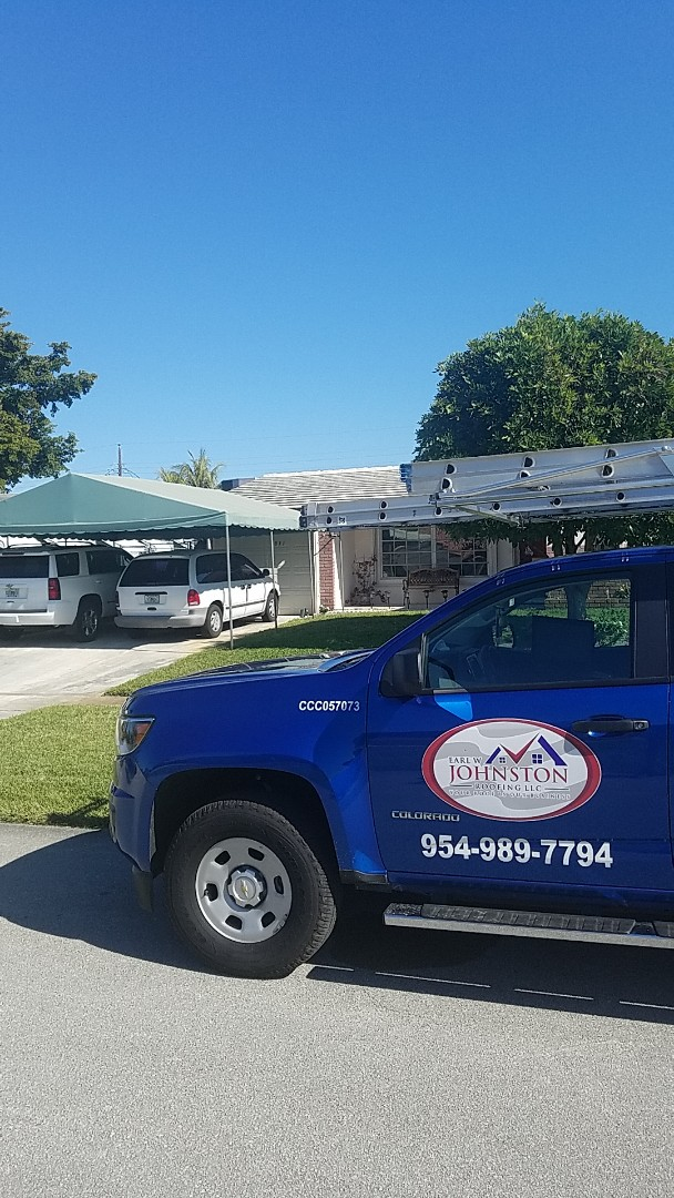 Hollywood, FL - GAF mineral cap sheet flat roof replacement estimate by Earl Johnston Roofing Company