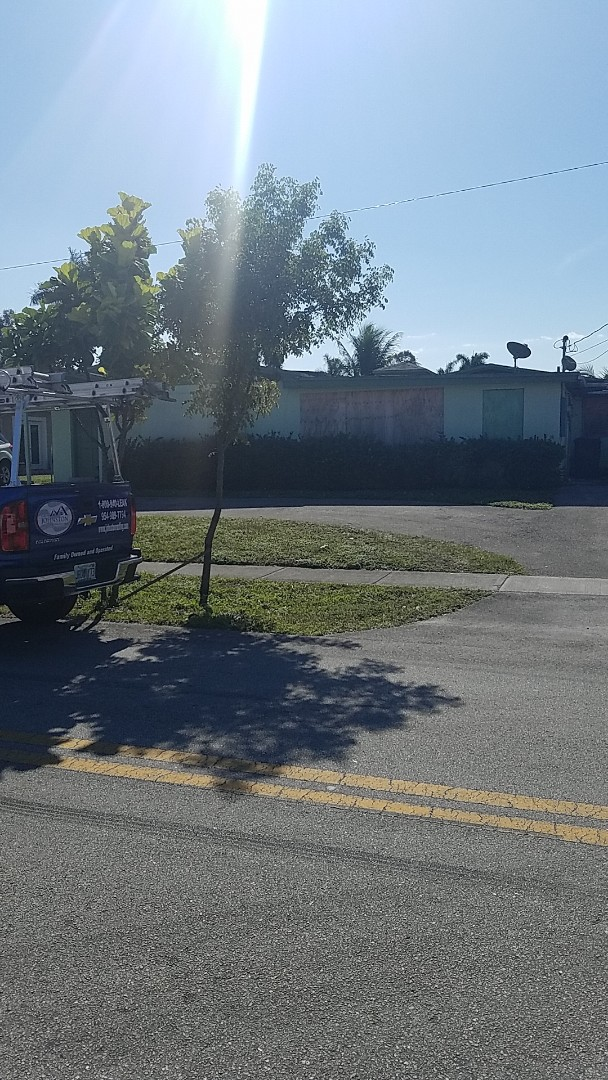 West Park, FL - GAF mineral cap sheet flat roof replacement estimate by Earl Johnston Roofing Company
