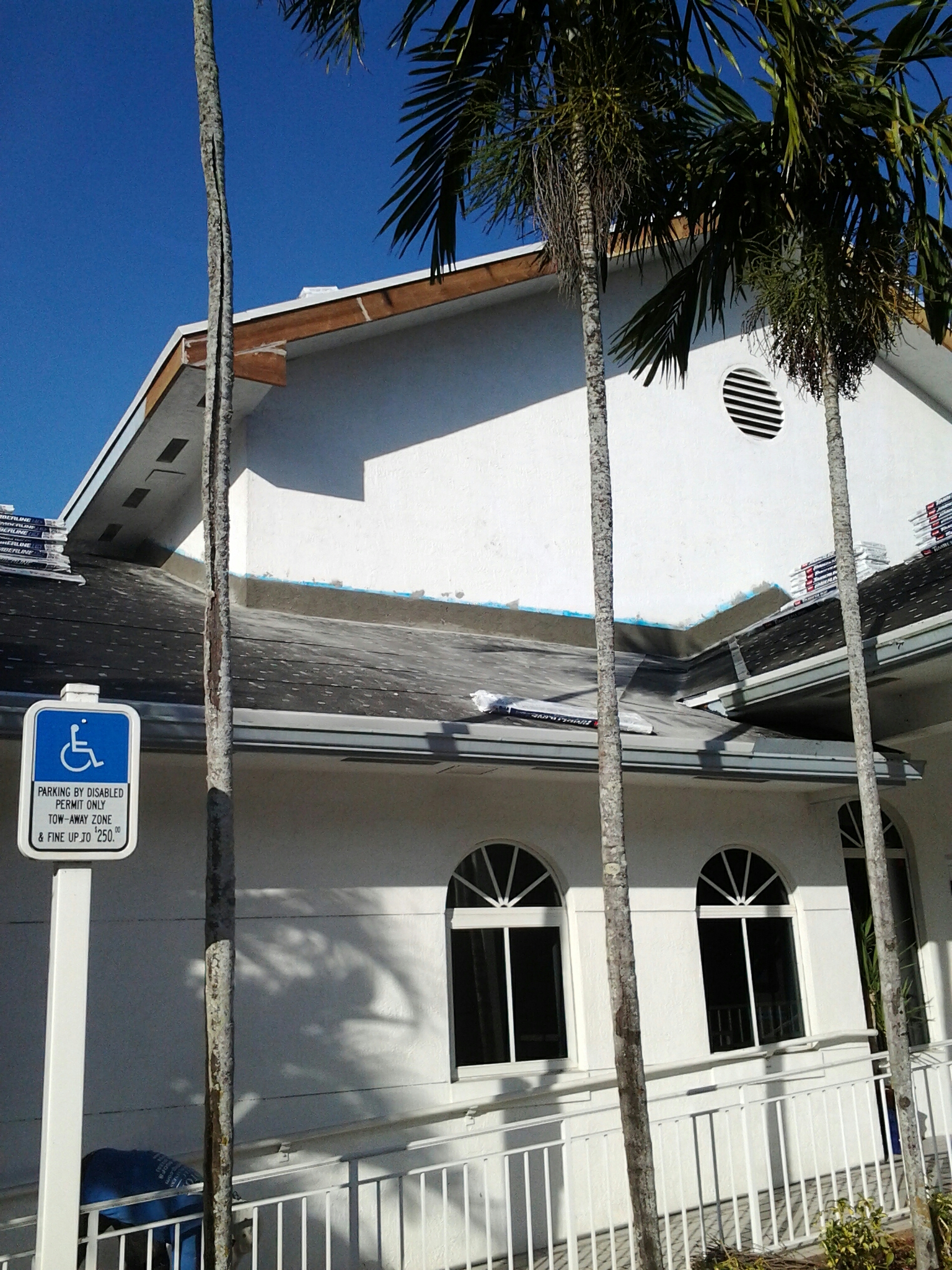 Southwest Ranches, FL - Finished stucco work on roof