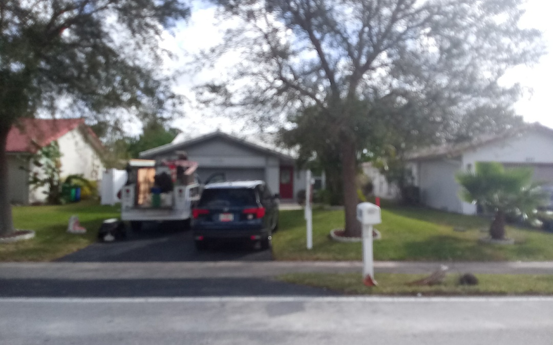 Coral Springs, FL - Tile roof repair in the city of coral springs fl this repair is being done by earl w johnston roofing company Jose end Duane are your repair technician