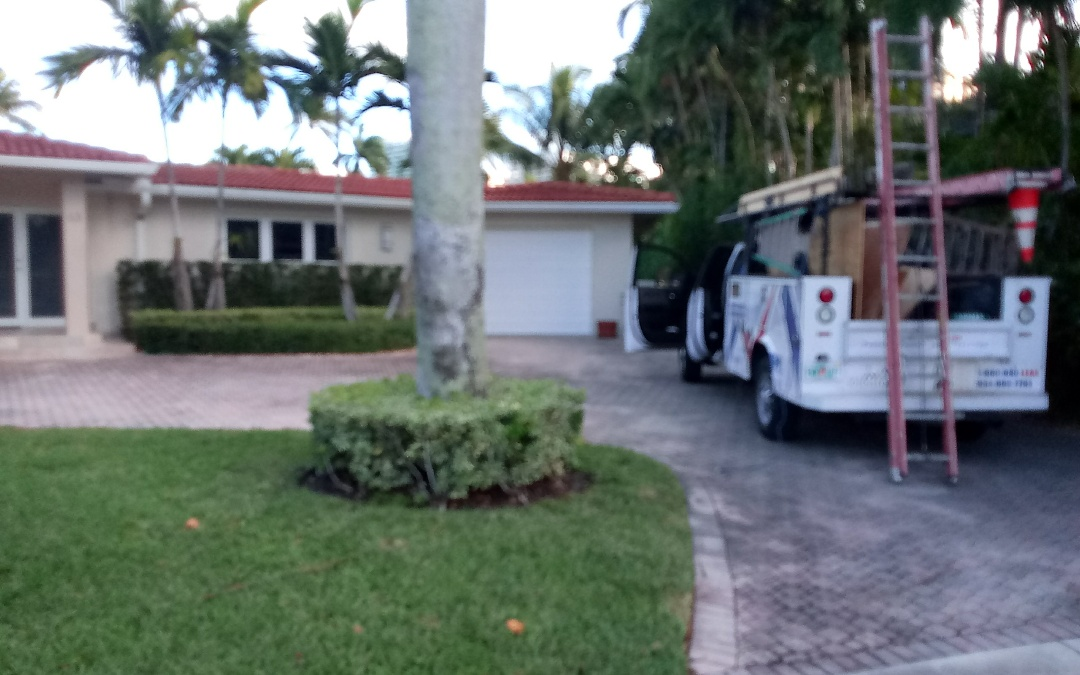 Bal Harbour, FL - Shingles roof repair in the city of bal harbour fl this repair is being done by earl w johnston roofing company jose duane end Alexis are you repair technician