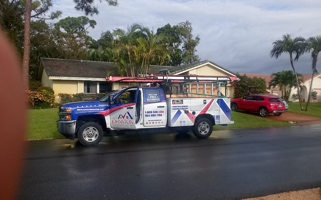 Delray Beach, FL - Tile roof repair in the city of Delray beach fl this repair is being done by earl w johnston roofing company jose end duane are you repair technician