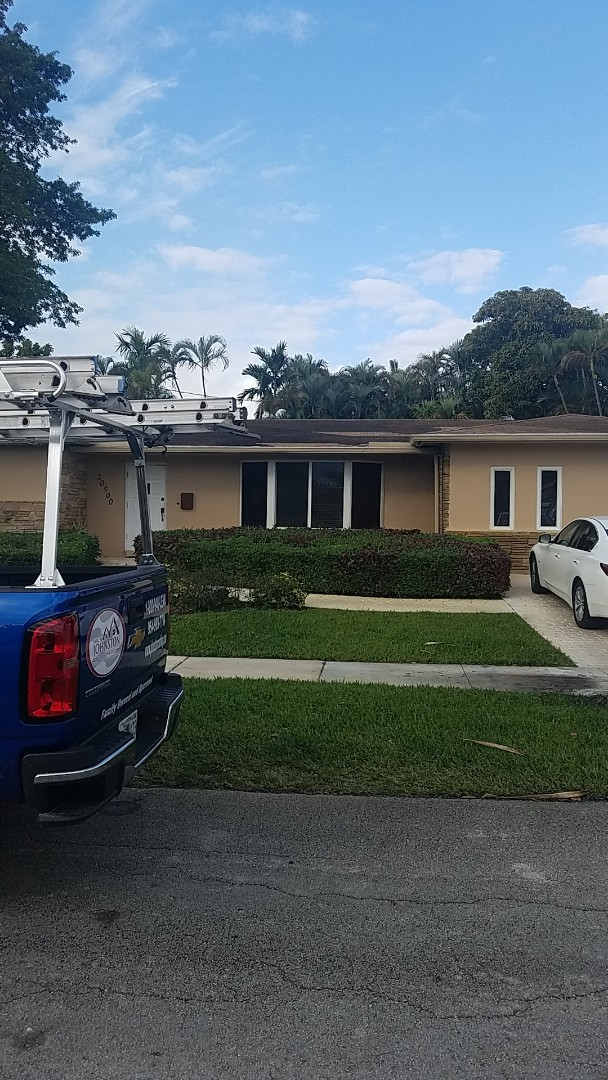 Miami, FL - Shingle roof leak repair estimate by Aj from Earl Johnston Roofing Company