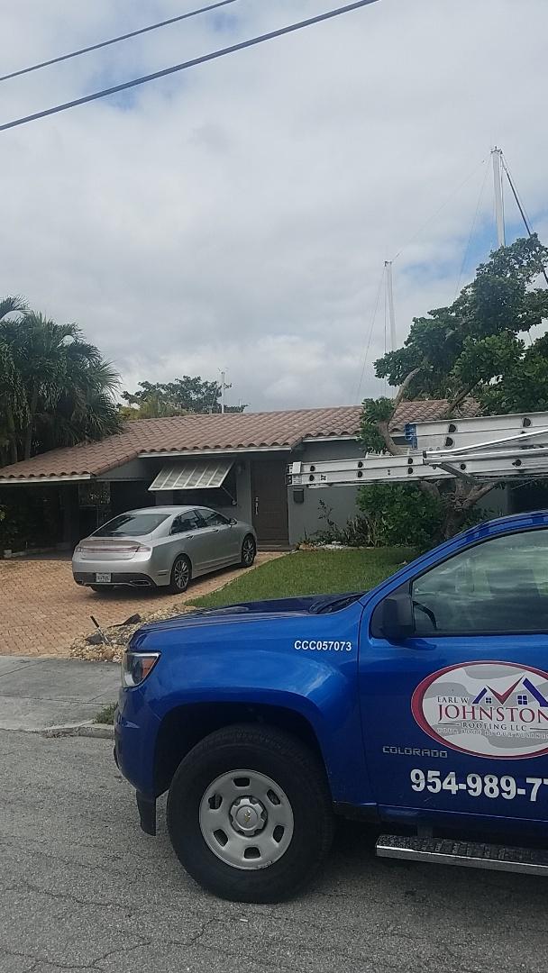 Fort Lauderdale, FL - Eagle capistrano tiles reroof estimate by Earl Johnston Roofing