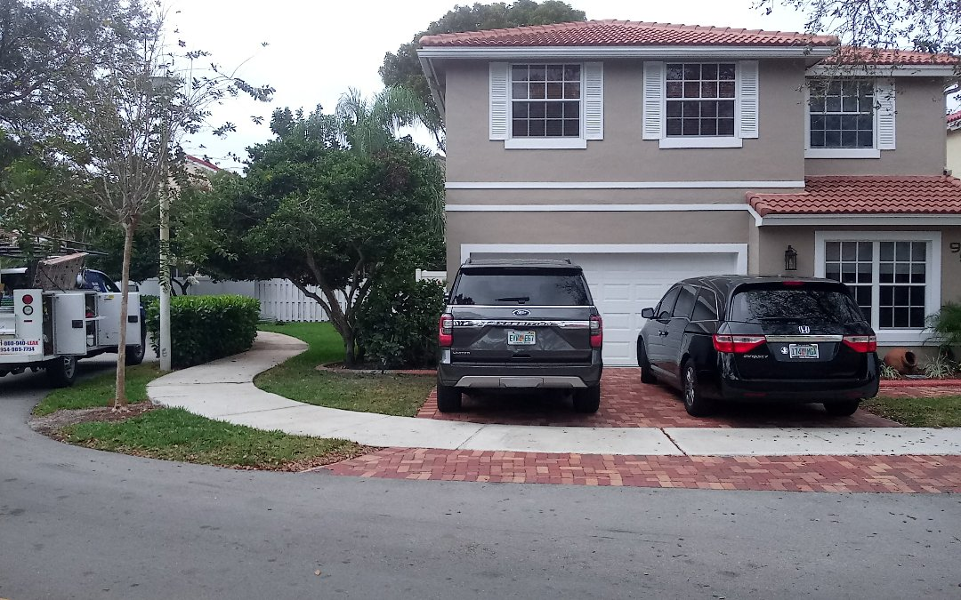 Weston, FL - Tile roof repair in the city of weston fl this repair is being done by earl w johnston roofing company jose end duane are you repair technician