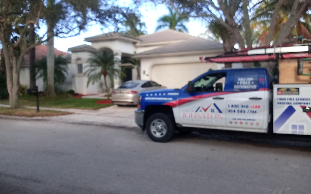 Weston, FL - Tile roof repair in the city of weston fl this repair is being done by earl w johnston roofing company jose end duane are your repair technician