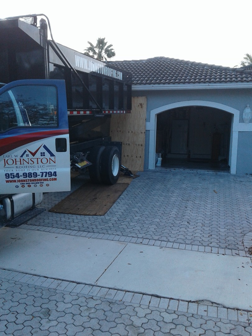 Weston, FL - Starting a 52sq tile reroof in Weston, by Earl w Johnston roofing