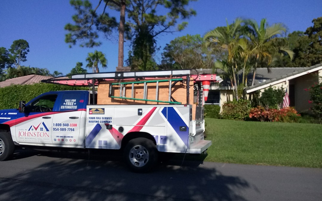 Delray Beach, FL - Tile roof repair in the city of Delray fl this repair is being done by earl w johnston roofing company jose end duane are you repair technician