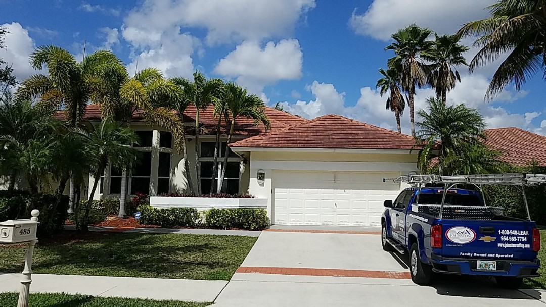 Weston, FL - Tile and flat re-roof estimate in Weston,FL