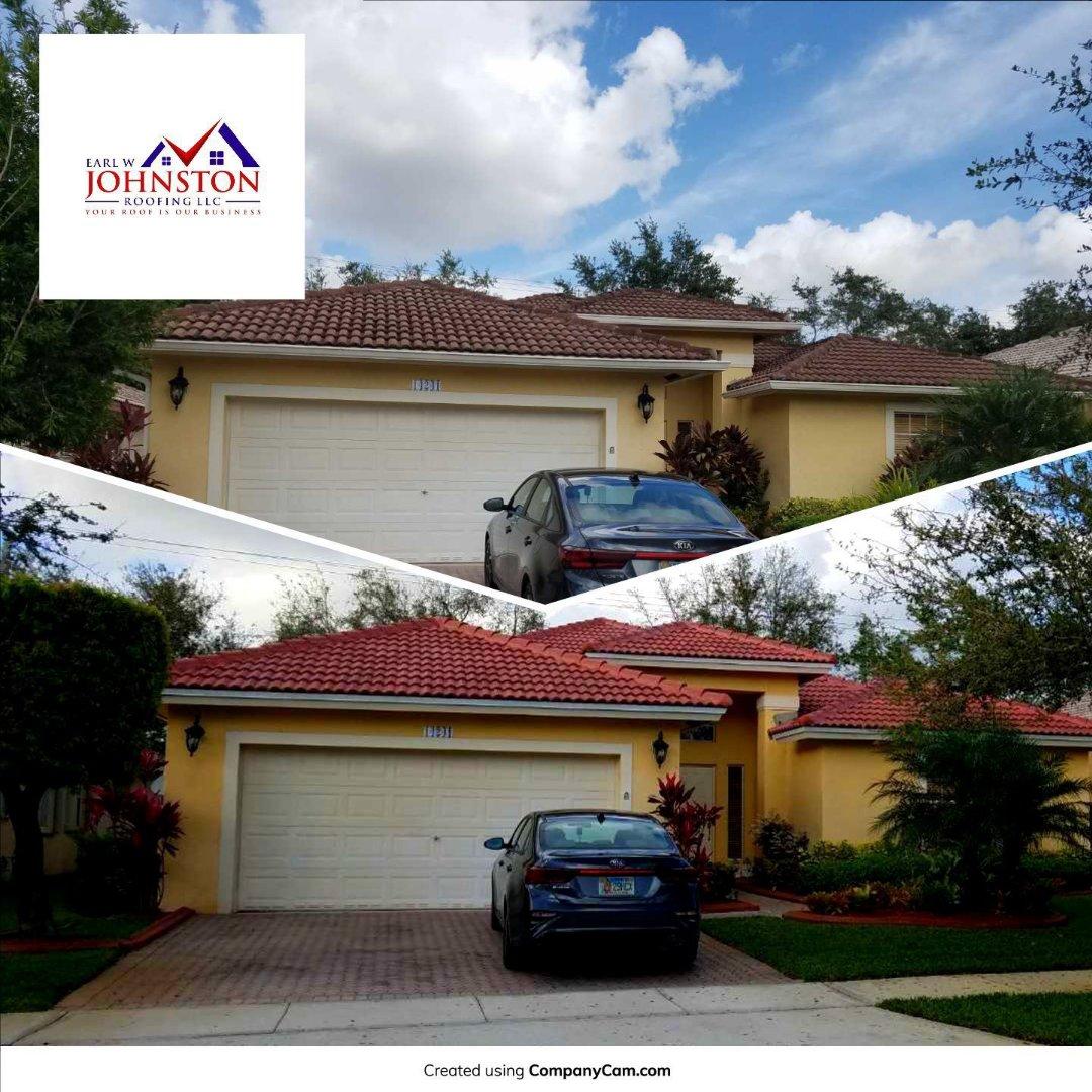Miramar, FL - Completed Kona Red color Eagle Malibu tile re-roof in Miramar, FL