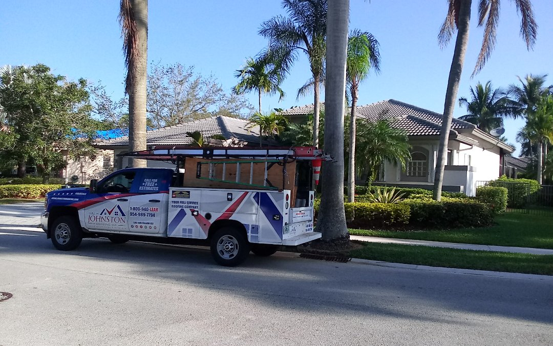 Weston, FL - Tile roof repair in the city of weston fl this repair is being done by earl w johnston roofing company jose end Marino are you repair technician