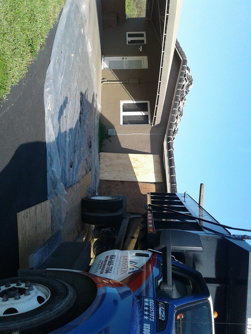 Southwest Ranches, FL - Starting a 32sq tile reroof in southwest Ranches, by Earl w Johnston roofing