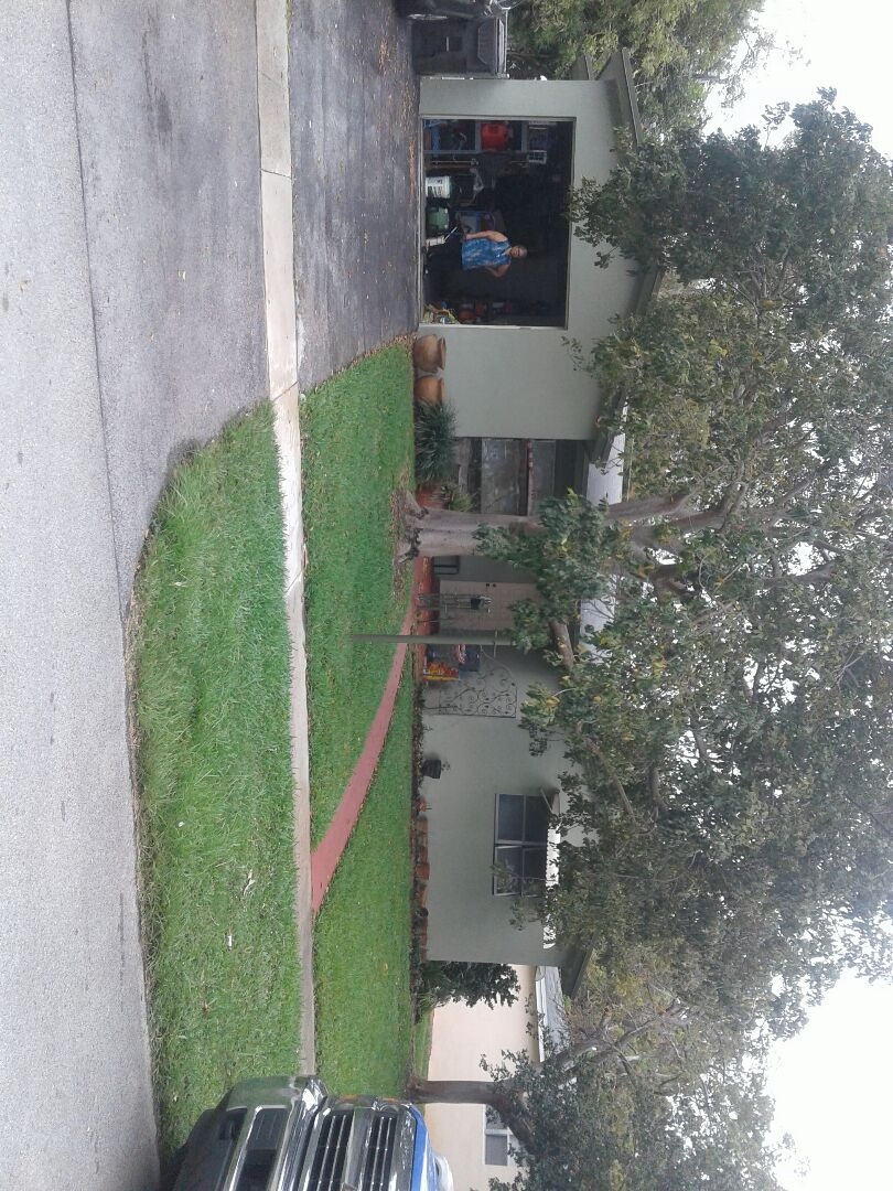 Lauderdale Lakes, FL - Roof repair in the city of Lauderdale Lakes Florida this repairs being done by Earl W Johnston roofing company Tony and Regis are you repair technicians