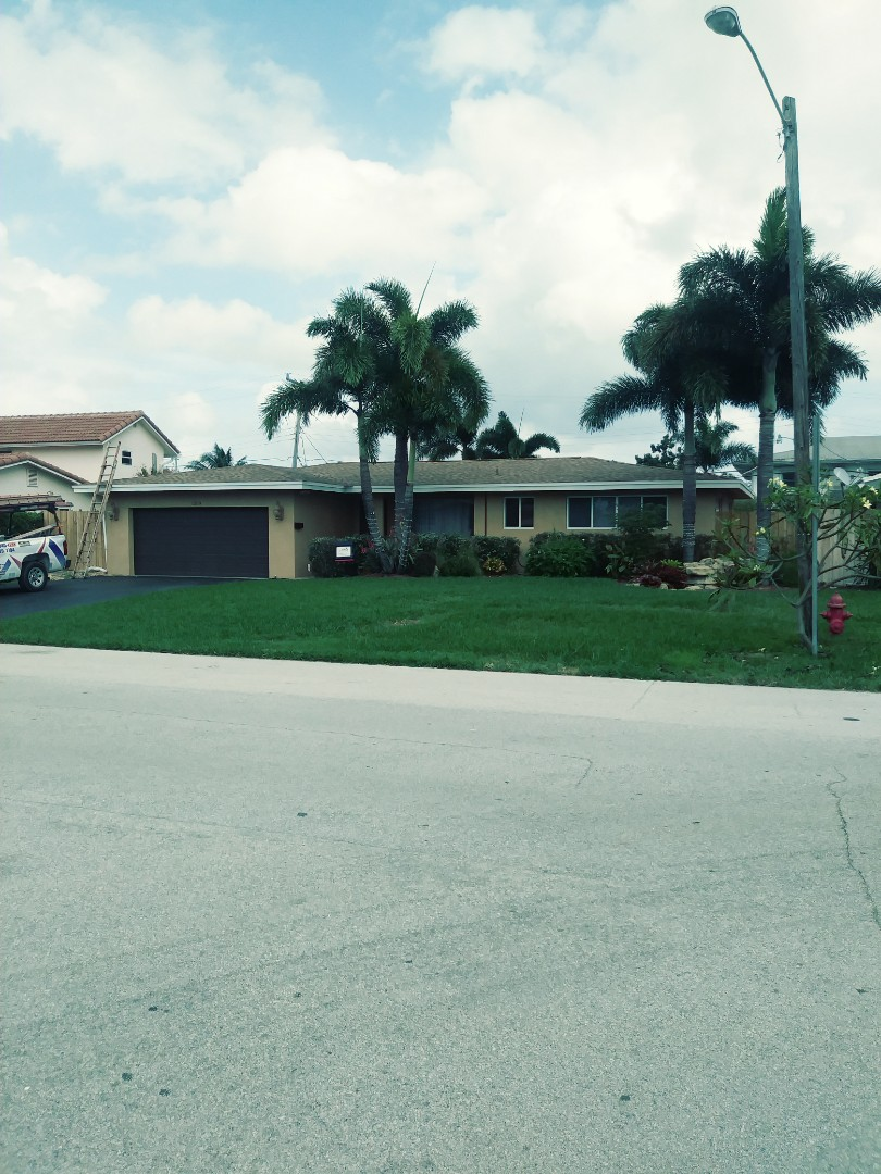Pompano Beach, FL - Finished gaf timberline shingle and flat roof by earl w Johnston roofing llc