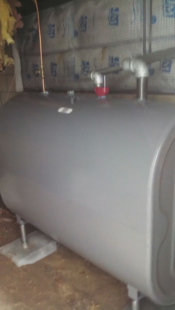 Island Heights, NJ - New ABOVE GROUND oil tank installed.